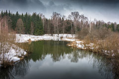 March day on a small river. Royalty Free Stock Image