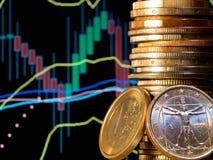 Marché de devise Image stock