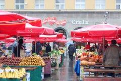 Marché de Dolac, Zagreb Images stock