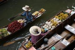 Marché de flottement Photographie stock libre de droits