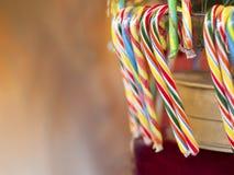 Marché de Noël de cannes de sucrerie Images stock