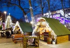 Marché de Noël à Varna Photographie stock libre de droits