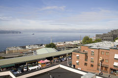 Marché de place de Pike de bord de mer Seattle Photos stock