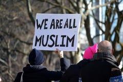 March de protestation Photos stock