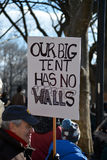 March de protestation image libre de droits