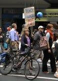 March de protestation de campagne de changement climatique Photos stock
