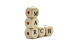 March Dices Stock Photography