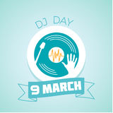 9 March  DJ Day Royalty Free Stock Photography