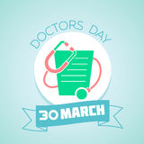 30 March Doctors Day. Calendar for each day on March Stock Image