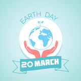 20 March Earth Day. Calendar for each day on March Royalty Free Stock Photo