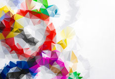 March eighth Geometric abstract colorful low poly background. With space for your text Royalty Free Stock Photo