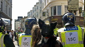 March for England in Brighton. Today's march for England related incidents Royalty Free Stock Photos