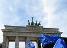 March for Europe Berlin Royalty Free Stock Photography