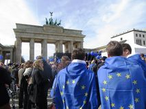 March for Europe Berlin Stock Images