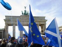 March for Europe Berlin Stock Photos