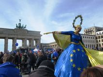March for Europe Berlin Royalty Free Stock Photo