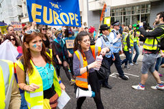 March for Europe royalty free stock photos