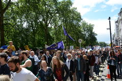 March for Europe 2nd July 2016 - London Royalty Free Stock Images