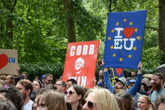 March for Europe 2nd July 2016 - London Royalty Free Stock Photography