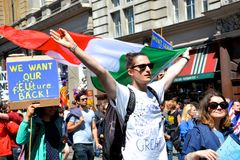 March for Europe 2nd July 2016 - London Royalty Free Stock Photo