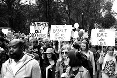 March for Europe 2nd July 2016 - London Royalty Free Stock Image