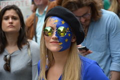 March for Europe 2nd July 2016 - London Stock Photos