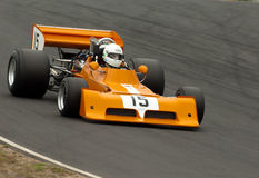 March F1 race car. MS: 1973 F1 March 73A race car at a Festival of Motorsport at Hampton Downs Race Track - Historic revival series Royalty Free Stock Photography