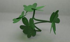 17 March flower 3d. Render stock illustration