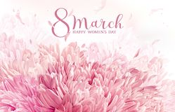 8 March flower greeting card Stock Photography