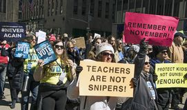 March For Our Lives, New York Stock Images