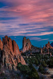 MARCH 8, 2017 GARDEN OF THE GODS, COLOARDO SPRINGS, CO, USA - a National Natural Landmark features Sedimentary rock formation Royalty Free Stock Images