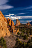 MARCH 8, 2017 GARDEN OF THE GODS, COLOARDO SPRINGS, CO, USA - a National Natural Landmark features Sedimentary rock formation Stock Photography
