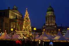 Marché Gendarmenmarkt de Noël de Berlin Image libre de droits