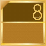 8 March Golden Brown Card_eps Stock Photo
