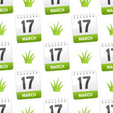 March 17 with Grass Seamless Pattern Royalty Free Stock Photography