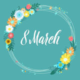 8 March Greeting Card. Royalty Free Stock Photos