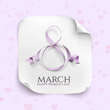 March 8 greeting card. Stock Photos