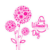 March 8 greeting card. Background for Womans Day. Flowers royalty free illustration