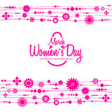 March 8 greeting card. Background for Womans Day Royalty Free Stock Image