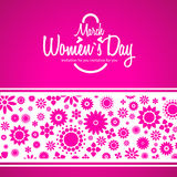 March 8 greeting card. Background for Womans Day. Flowers stock illustration