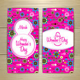 March 8 greeting card. Background for Womans Day Stock Photo