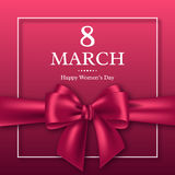 March 8 greeting card for International Womans Day. Stock Image