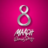 March 8 greeting card. International Womans Day. vector. pink background. Art vector illustration