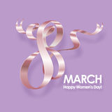 March 8 greeting card. March 8 International Womens Day greeting card. Background template. Vector illustration Stock Illustration
