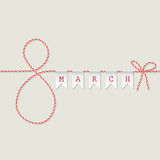 March 8 greeting card Stock Photos