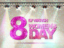 March 8 greeting card. Women`s Day Stock Images