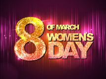 March 8 greeting card. Women`s Day Stock Photography