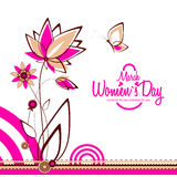 March 8 greeting card. Women`s Day Stock Photo
