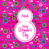 March 8 greeting card. Women`s Day Royalty Free Stock Photos