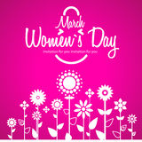 March 8 greeting card. Women`s Day Royalty Free Stock Images